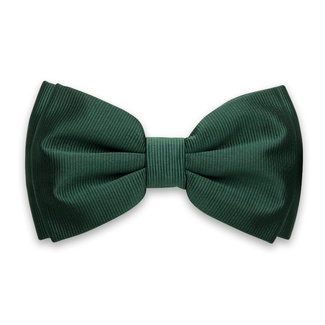 Men's bow tie in dark green color 12296