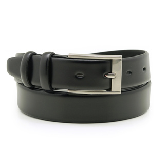 Men's leather belt in black color 12298