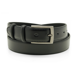 Men's leather belt in black color with lining 12300