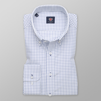 Men's classic shirt with fine check pattern 12306