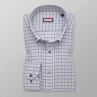 Men's Slim Fit shirt with check pattern 12322, Willsoor