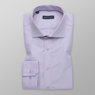 Men's Slim Fit shirt with a checkered pattern 12391, Willsoor