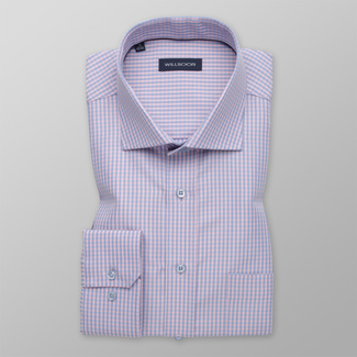 Men's classic shirt with checkered pattern 12392, Willsoor