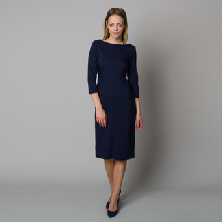Midi dress in dark blue color 12400, Willsoor