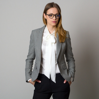 Women's suit jacket with black and white pattern 12419, Willsoor