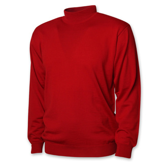 Men's red sweater with a low turtleneck 12426