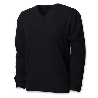 Men's black sweater with a smooth pattern 12428