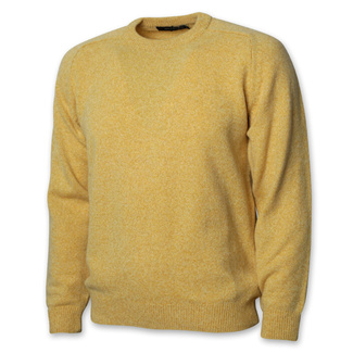 Men's yellow sweater with a smooth pattern 12429