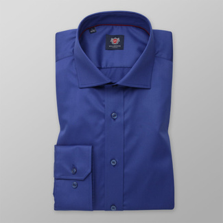 Men's Slim Fit shirt in blue with smooth pattern 12459, Willsoor