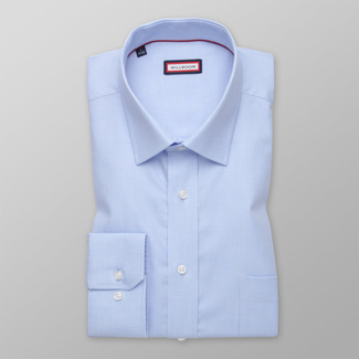 Men's classic shirt in light blue with check pattern 12466, Willsoor