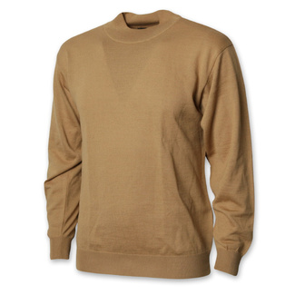 Men's low turtleneck in light brown 12470, Willsoor