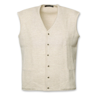 Men vest with cufflinks beige 12471, Willsoor