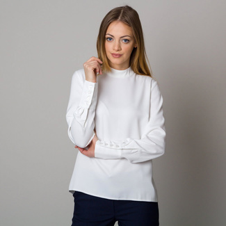 Women's shirt in white with long sleeves 12531