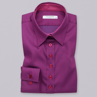 Women shirt Long Size purple with smooth pattern 12533, Willsoor