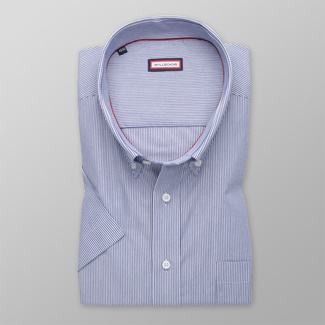 Men's shirt classic with blue-white pattern 12597