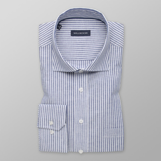 Men's shirt classic with blue striped pattern  12599, Willsoor