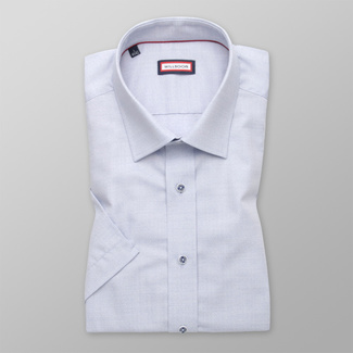 Men's shirt Slim Fit light grey with delicate pattern 12606