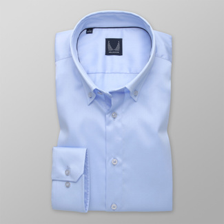 Men's shirt Slim Fit blue with smooth pattern 12608, Willsoor