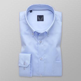 Men's shirt classic blue with smooth pattern 12609