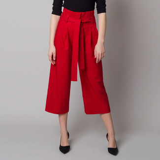 Women fabric pants culottes red 12621, Willsoor