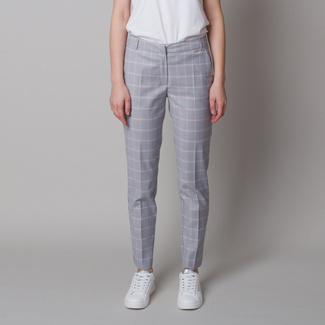 Women's suit pants with checkered pattern 12623