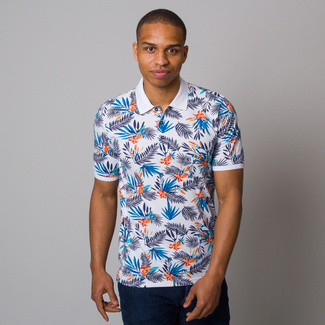 Men polo t-shirt CASA MODA tropical print 12659