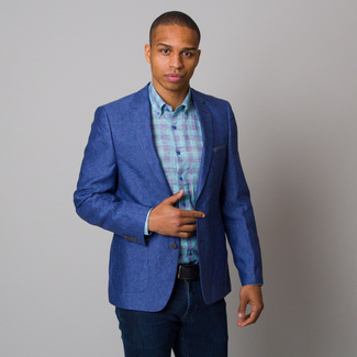 Men suit jacket dark blue color 12662