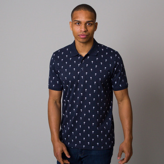 Men's polo t-shirt CASA MODA with palms print12674