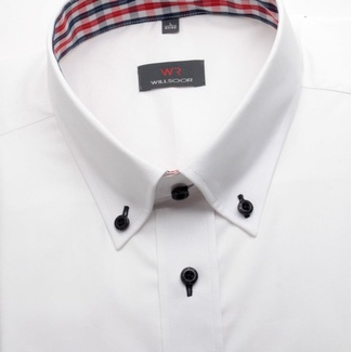 Men classic shirt (height 176/182 a 188/194) 1377 in white color