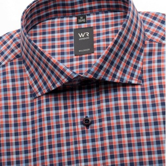 Men's checkered slim fit shirt London (height 176-182) 1429