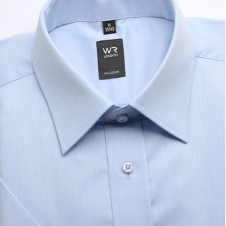 Men light blue shirt WR London with short sleeve (height 176-182) 1696