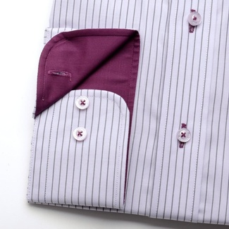 Men shirt WR London with strips purple (height 188-194) 1710