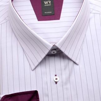 Men shirt WR London light purple with strips (height 176/182 a 188/194) 1711