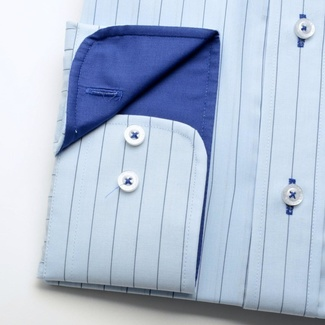 Men shirt WR London blue with strip (height 176/182 a 188/194) 1712
