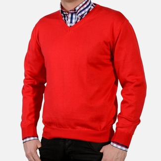 Men sweater Willsoor 1723 in red color