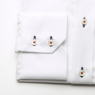 Men slim fit shirt WR London (height 176-182) 1950 in white color