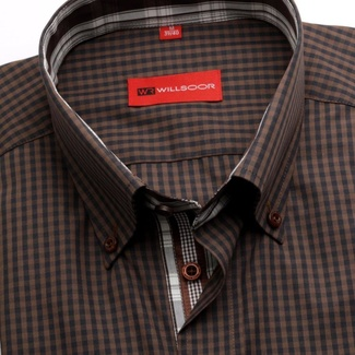 Men shirt WR Slim Fit (height 176-182) 1959 with blue-brown checked