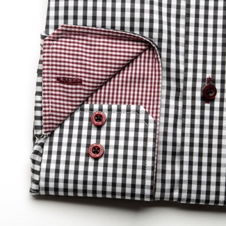 Men shirt WR Slim Fit (height 176-182) 1997 with white - black checked
