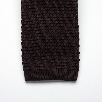 Brown knitted tie Willsoor 2323, Willsoor