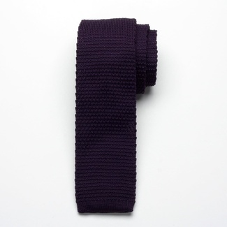 Men knitted tie Willsoor 2325 in purple color, Willsoor