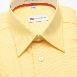 Men classic shirt with short sleeve (height 176-182) 269 in yellow color
