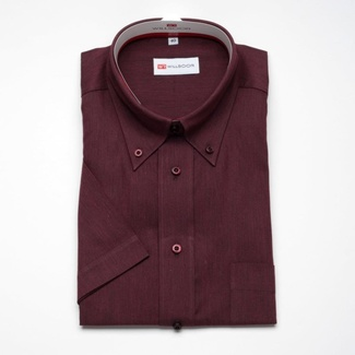 Men classic shirt with short sleeve (height 176-182) 270 in claret color