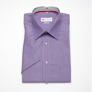 Men classic shirt with short sleeve (height 176-182) 306 with strips