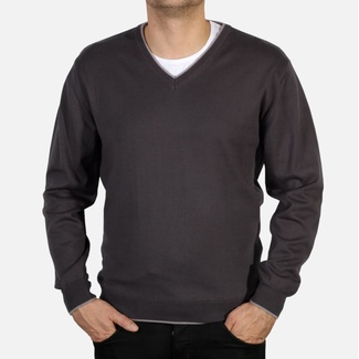 Men pullover Willsoor 3706 in graphite color