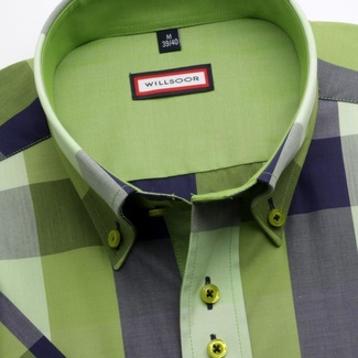 Men slim fit shirt (height 176-182) 3767 with coloured checked