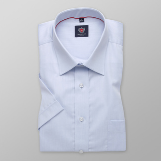 Men classic shirt WR London (height 176-182) 3778 in blue color with short sleeve