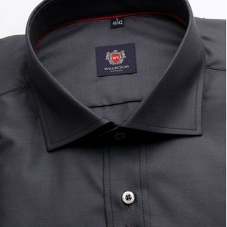 Men classic shirt London (height 176-182) 3944 in graphite color