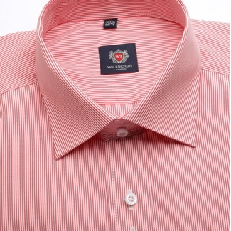 Men slim fit shirt WR London in pink color with strip (height 176-182) 4251