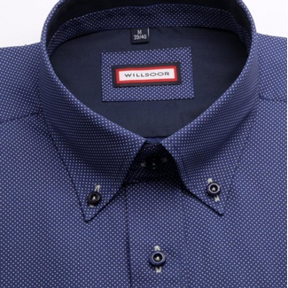 Men slim fit shirt (height 176-182) 4458 in blue color
