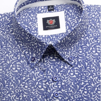 Men shirt WR London in white color with flower vzorem(výška176-182) 4468